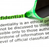 Image of the word confidential highlighted in green with the definition