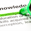 Image of the word knowledge highlighted in green with the definition
