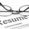 Image of a resume and glasses